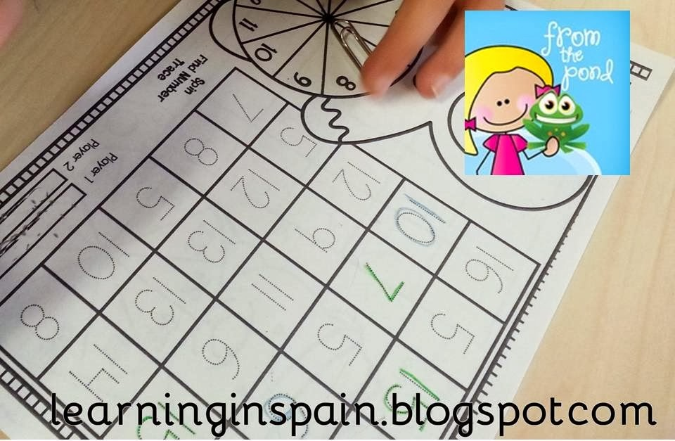 Language Arts Ives Learning In Spain. Christmas Print And Play Number Worksheets From Melanie The Pond My Students Loved Spinner Games It Is One Of Favorite Purchases Tpt. Worksheet. Worksheet Works Language Arts At Clickcart.co