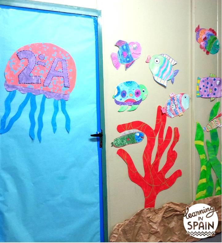 Ocean classroom door