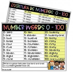 number words freebie