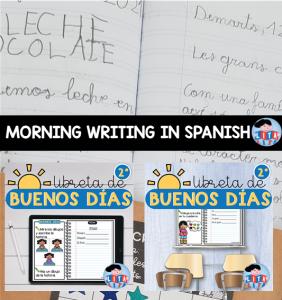 Morning Writing in Spanish